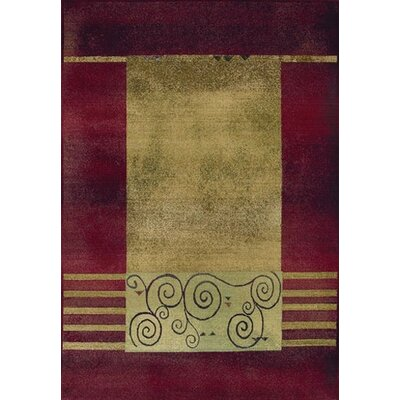 Matilda Red/Beige Area Rug Rug Size: Rectangle 99 x 122