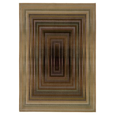Matilda Beige/Green Area Rug Rug Size: Rectangle 23 x 45