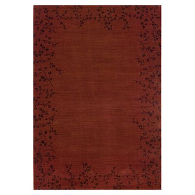 Ryles Floral Red Area Rug Rug Size: Rectangle 78 x 1010