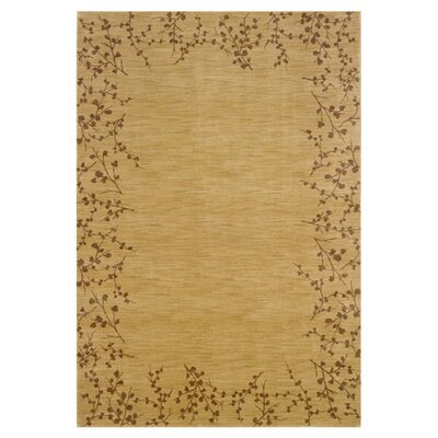 Ryles Floral Beige Area Rug Rug Size: Rectangle 53 x 76