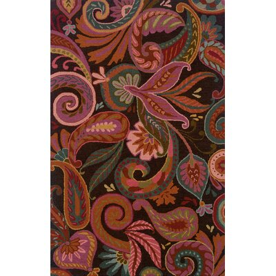 Maxson Floral Handmade Red Area Rug Rug Size: Rectangle 5 x 8