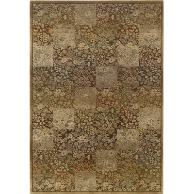 Matilda Green/Gold Area Rug Rug Size: Rectangle 99 x 122
