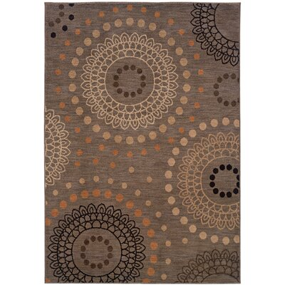 Mathis Geometric Brown Area Rug Rug Size: 310 x 55