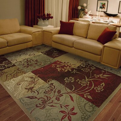 Sabanc Beige/Red Area Rug Rug Size: Rectangle 53 x 76