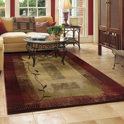 Matilda Dark Red/Beige Area Rug Rug Size: Rectangle 53 x 76