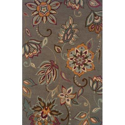 Maxson Floral Handmade Grey Area Rug Rug Size: Runner 26 x 8