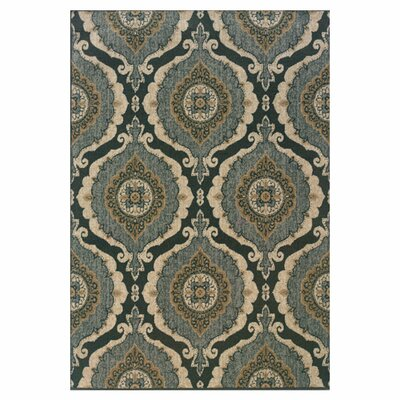 Schaumburg Blue/Ivory Area Rug Rug Size: Rectangle 67 x 96