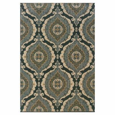 Schaumburg Blue/Ivory Area Rug Rug Size: Rectangle 710 x 1010