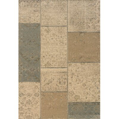 Schaumburg Tan/Blue Area Rug Rug Size: Rectangle 53 x 76