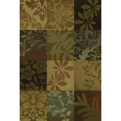 Matteson Green/Red Area Rug Rug Size: 310 x 55