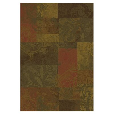 Matteson Green/Red Area Rug Rug Size: 10 x 13
