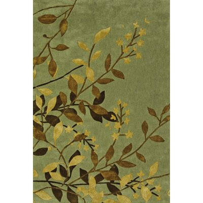 Maynes Green/Yellow Area Rug Rug Size: 8 x 10
