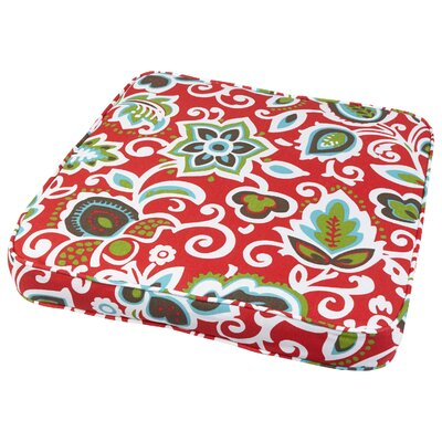 Dyer Outdoor Dining Chair Cushion Size: 20 W x 20 D, Fabric: Floral Red
