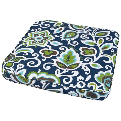 Dyer Outdoor Dining Chair Cushion Fabric: Floral Navy, Size: 20 W x 20 D