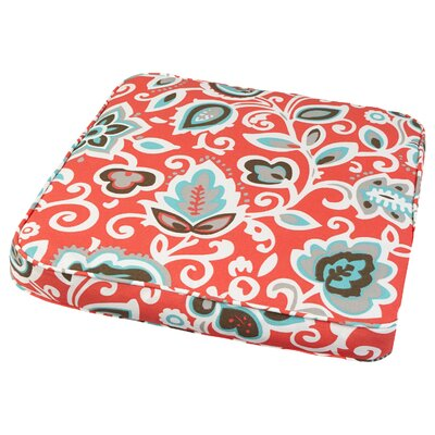 Dyer Outdoor Dining Chair Cushion Size: 19 W x 19 D, Fabric: Floral Coral