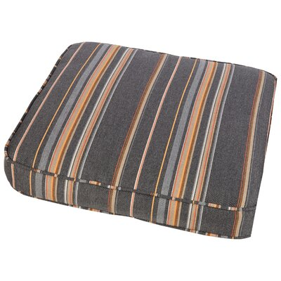 Dyer Outdoor Sunbrella Dining Chair Cushion Size: 20 W x 20 D, Fabric: Multi Colored Stripes
