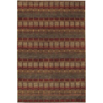 Sammons Hand-Knotted Gray/Red Area Rug Rug Size: 36 x 56