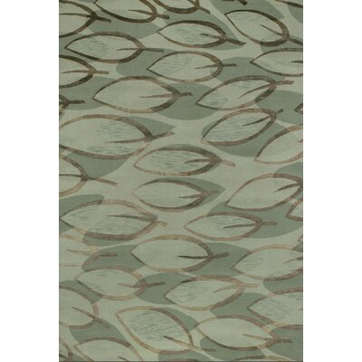 Sandoval Hand-Knotted Sage Area Rug Rug Size: Rectangle 6 x 9