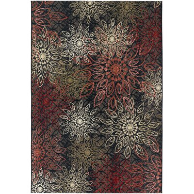 Sauget Brown Indoor/Outdoor Area Rug Rug Size: 53 x 76