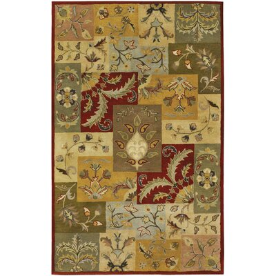 Saulters Hand-Woven Sage/Brown Area Rug Rug Size: 8 x 10