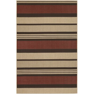 Sansom Red Indoor/Outdoor Rug Rug Size: Rectangle 311 x 56