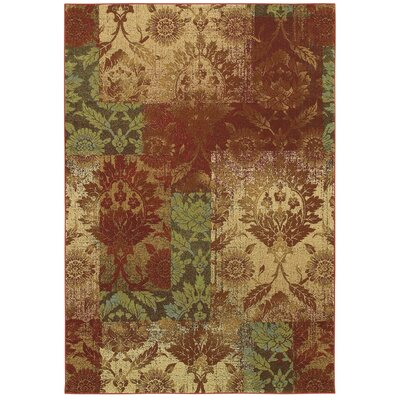 Savanna Ethereal Garden Paprika/Beige Area Rug Rug Size: Rectangle 99 x 13