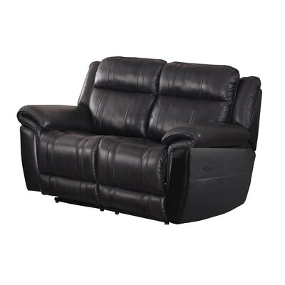 Chastain Leather Reclining Loveseat
