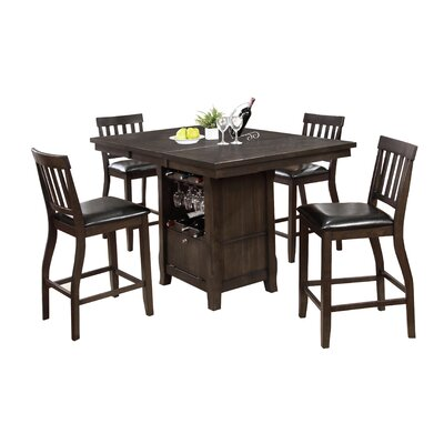 Dore 5 Piece Pub Table Set Finish: Gray