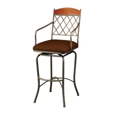 Campos 26 Swivel Bar Stool Color: Shandora Toast