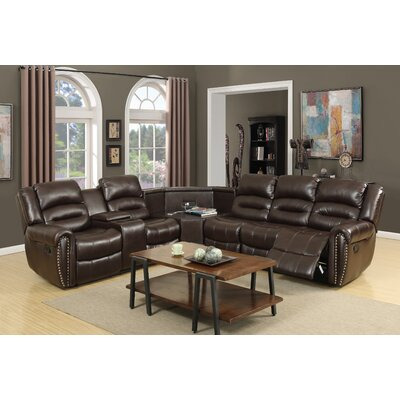 Scheele Sectional Upholstery: Brown