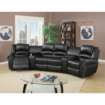 Home Theater Sectional Upholstery: Black