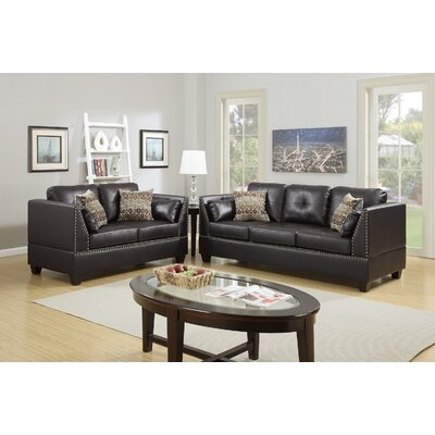 Scheuerman Sofa and Loveseat Set Upholstery: Espresso