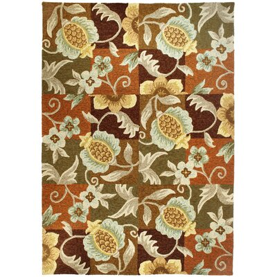 Schueller Tropical Pineapple and Flowers Indoor/Outdoor Rug Rug Size: 5' x 7'
