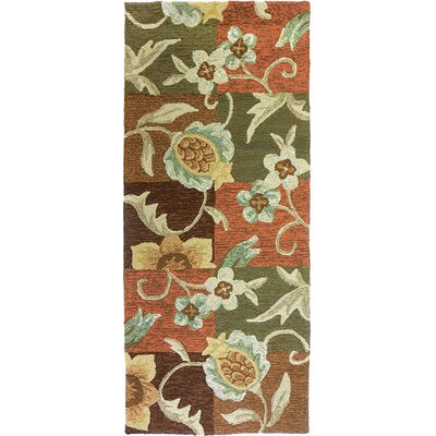 Schueller Tropical Pineapple and Flowers Indoor/Outdoor Rug Rug Size: 22 x 5