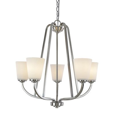Quarry 5-Light Shaded Chandelier Finish: Brushed Nickel
