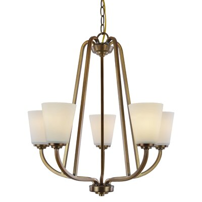 Quarry 5-Light Shaded Chandelier Finish: Vintage Brass
