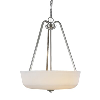 Quarry 3-Light Bowl Pendant Base Finish: Brushed Nickel