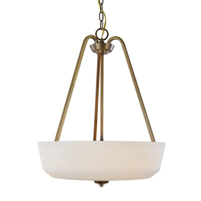 Quarry 3-Light Bowl Pendant Base Finish: Vintage Brass