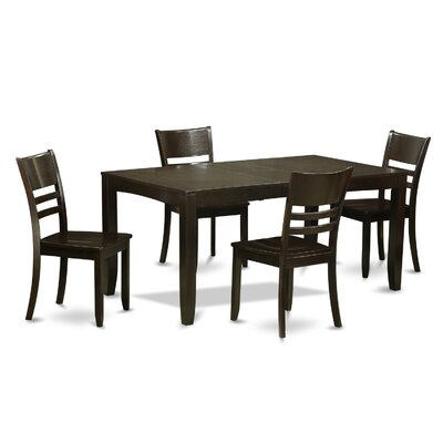 Lockmoor 5 Piece Dining Set Finish: Cappuccino