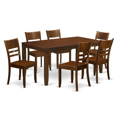 Lockmoor 7 Piece Dining Set Finish: Espresso