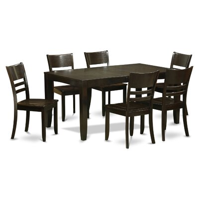 Lockmoor 7 Piece Dining Set Finish: Cappuccino