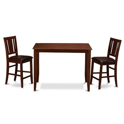 Lightner Counter Height Dining Set Finish: Mahogany