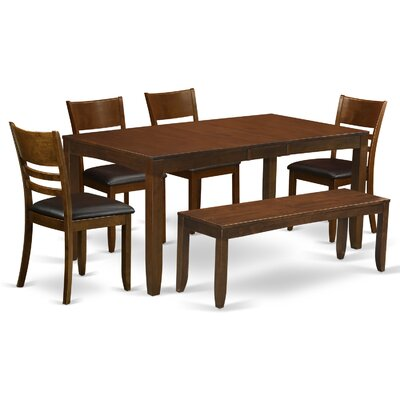 Lockmoor 6 Piece Dining Set Finish: Espresso
