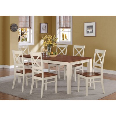 Loraine 5 Piece Dining Set Finish: Buttermilk and Cherry