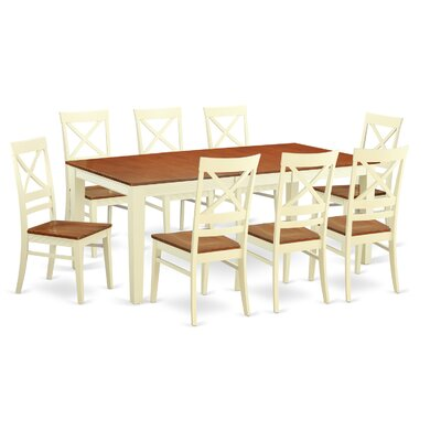 Loraine 9 Piece Dining Set Finish: Buttermilk and Cherry