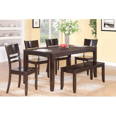 Lockmoor 6 Piece Dining Set Finish: Cappuccino