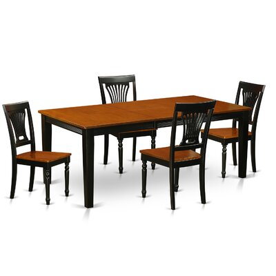 Loraine 5 Piece Dining Set Finish: Black / Cherry