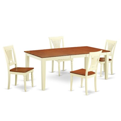 Loraine 5 Piece Dining Set Finish: Buttermilk