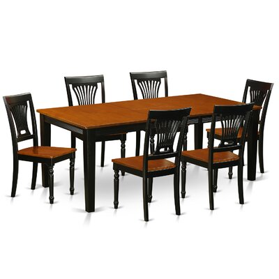 Loraine 7 Piece Dining Set Finish: Black / Cherry