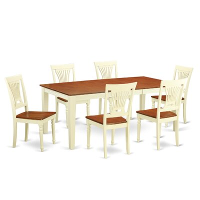 Loraine 7 Piece Dining Set Finish: Buttermilk